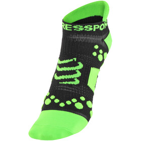Compressport Racing V2 Run Low Socks Black/Green